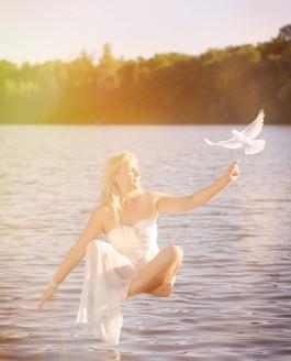 Levitation-Shooting mit Desiree